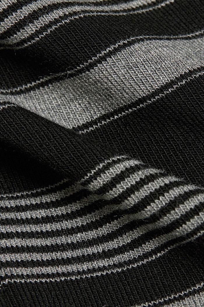 Gerecycled: longsleeve met colour blocks en opstaande kraag, GUNMETAL, detail image number 4