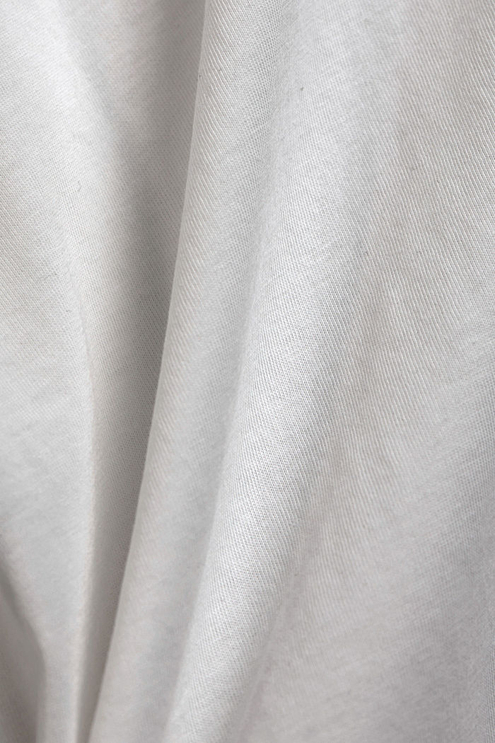 Long sleeve top with band colour made of 100% cotton, OFF WHITE, detail image number 4