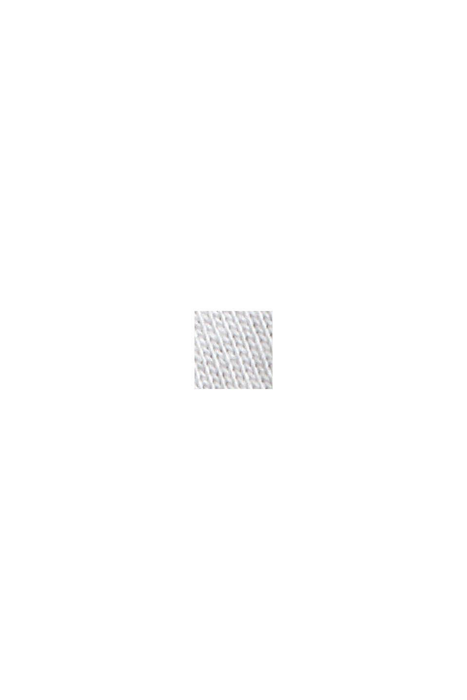 Longsleeve met opstaande kraag van 100% biologisch katoen, OFF WHITE, swatch