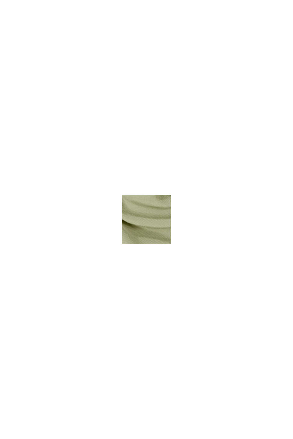 Material-Mix Shirt mit LENZING™ ECOVERO™, LIGHT KHAKI, swatch