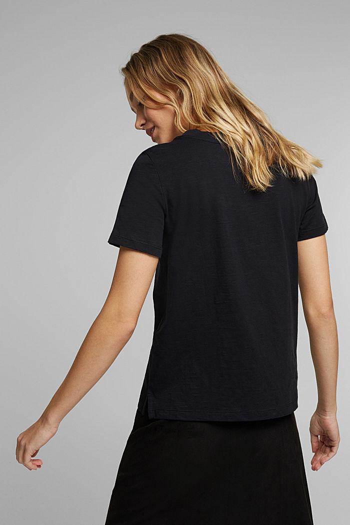 Print-Shirt aus 100% Organic Cotton, BLACK, detail image number 3