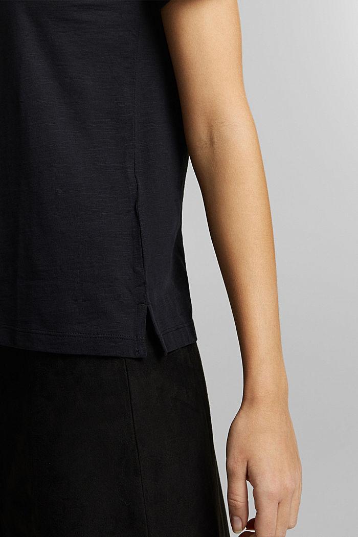 Print-Shirt aus 100% Organic Cotton, BLACK, detail image number 2