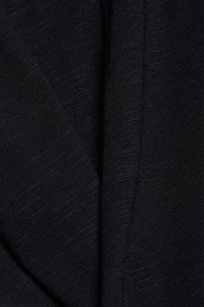 Printed T-shirt in 100% organic cotton, BLACK, detail image number 4