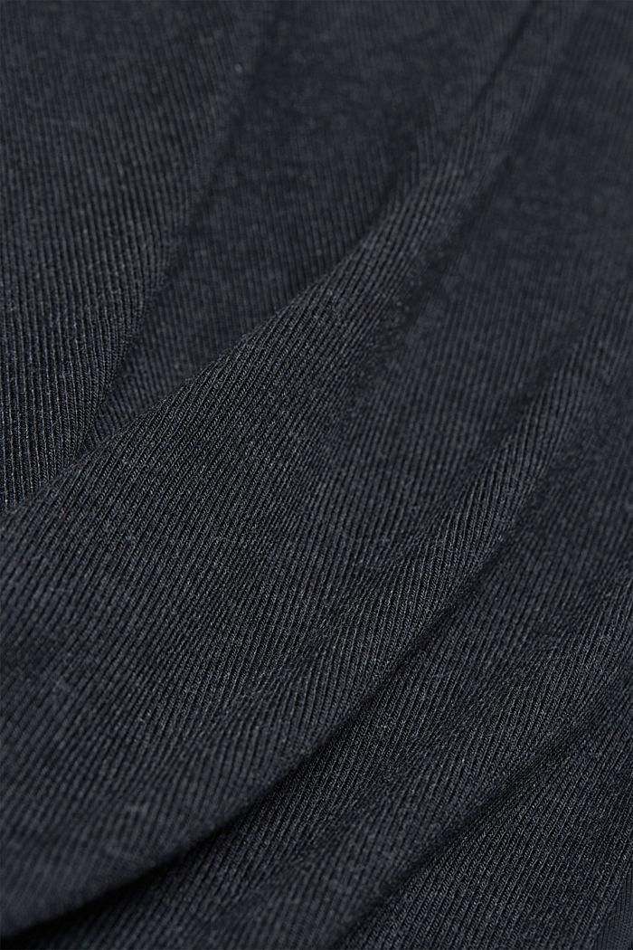 Hoodie met LENZING™ ECOVERO™, BLACK, detail image number 4