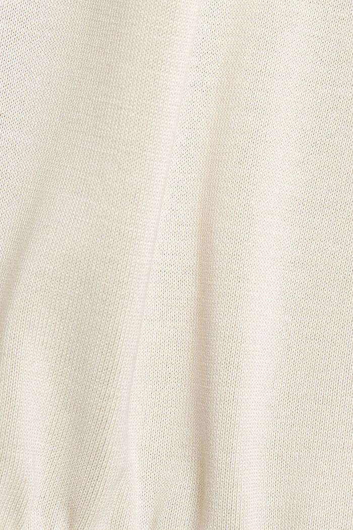 Hoodie mit LENZING™ ECOVERO™, CREAM BEIGE, detail image number 4