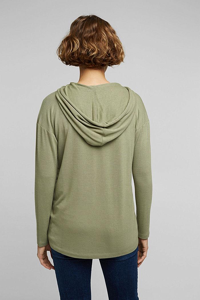 Mikina s kapucí s materiálem LENZING™ ECOVERO™, LIGHT KHAKI, detail image number 3
