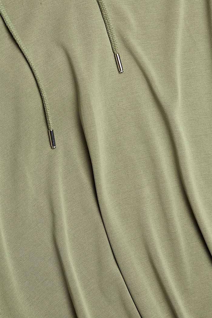 Hoodie with LENZING™ ECOVERO™, LIGHT KHAKI, detail image number 4
