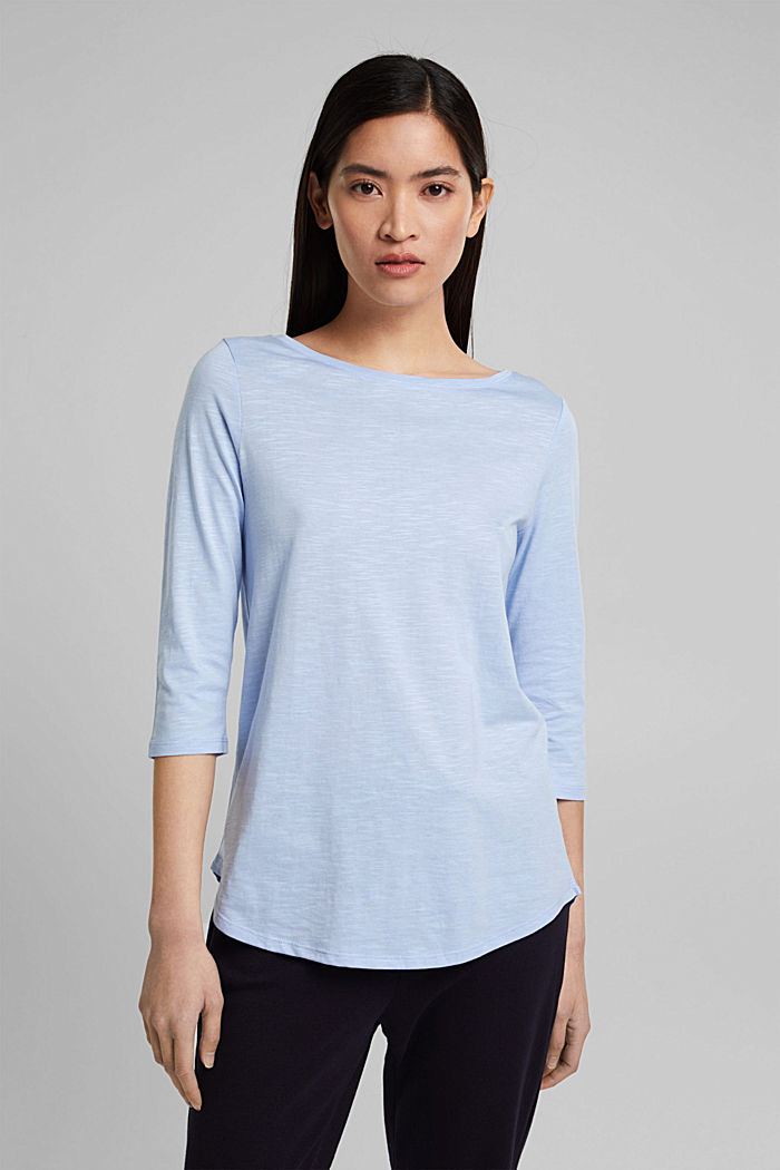 Organic cotton-jersey T-shirt, PASTEL BLUE, overview
