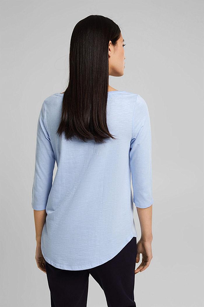 Jersey-Shirt mit Organic Cotton, PASTEL BLUE, detail image number 3
