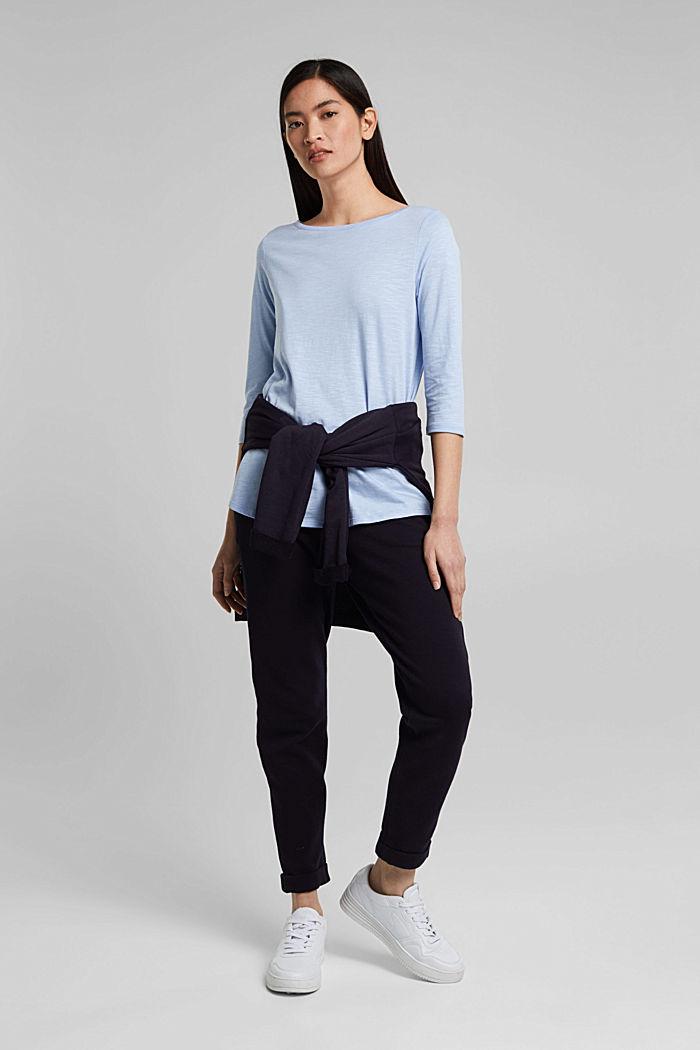 Jersey-Shirt mit Organic Cotton, PASTEL BLUE, detail image number 1