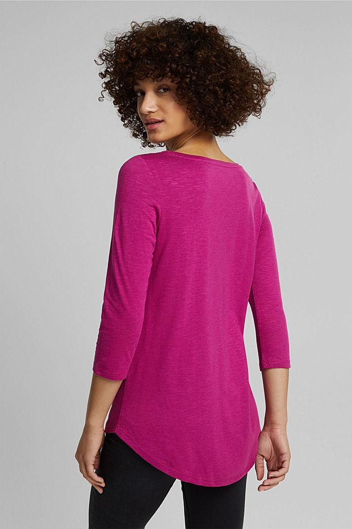 Organic cotton-jersey T-shirt, DARK PINK, detail image number 3