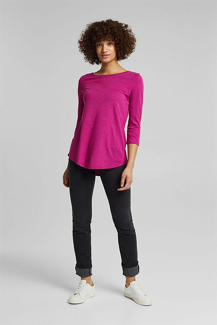 Organic cotton-jersey T-shirt, DARK PINK, detail image number 6