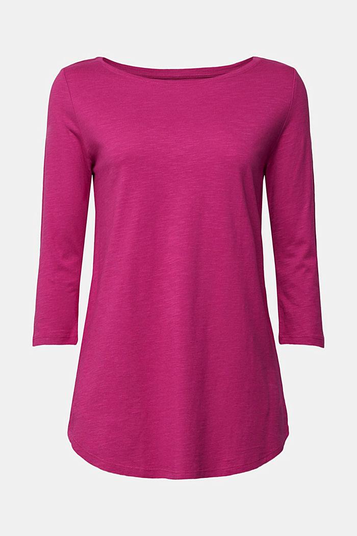 Organic cotton-jersey T-shirt, DARK PINK, detail image number 7