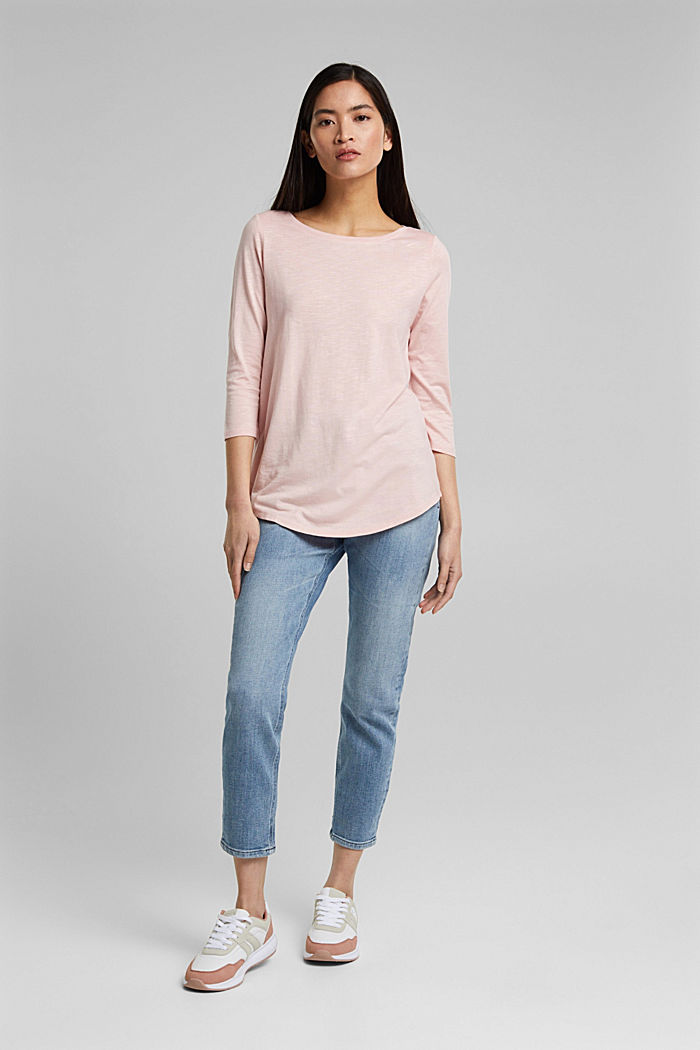 Jersey-Shirt mit Organic Cotton, NUDE, detail image number 5
