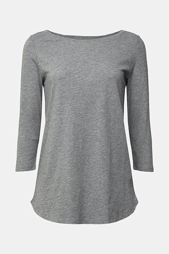 Organic cotton long sleeve top with LENZING™ ECOVERO™