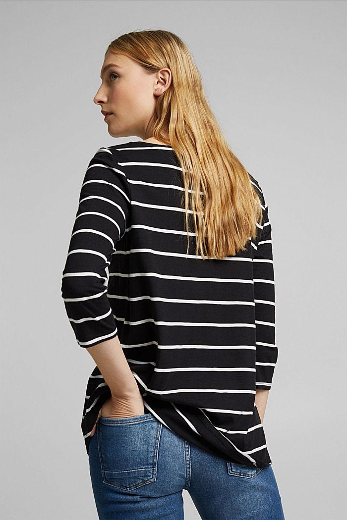 Streifen-Shirt aus Bio-Baumwolle und TENCEL™, BLACK, detail image number 3