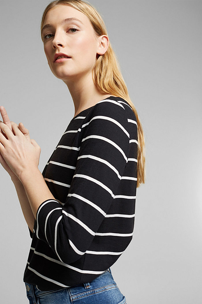 Striped top made of organic cotton and TENCEL™