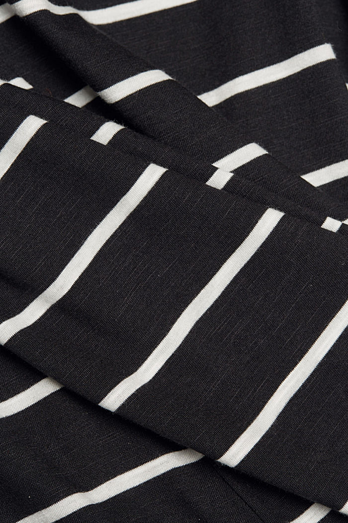 Striped top made of organic cotton and TENCEL™, BLACK, detail image number 4