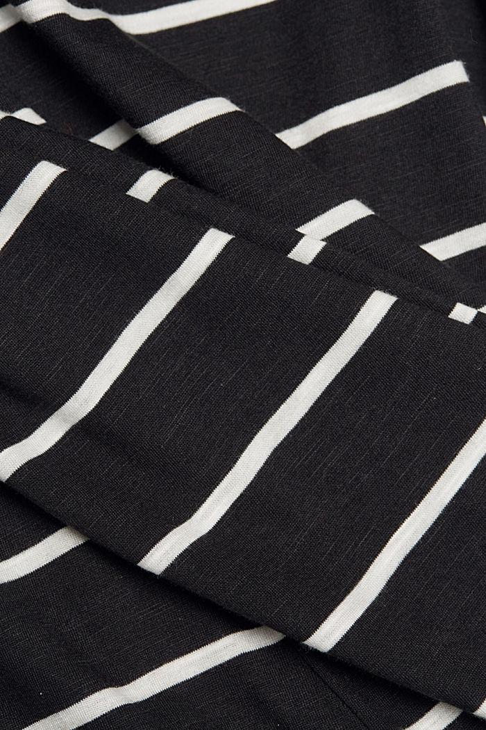 Streifen-Shirt aus Bio-Baumwolle und TENCEL™, BLACK, detail image number 4