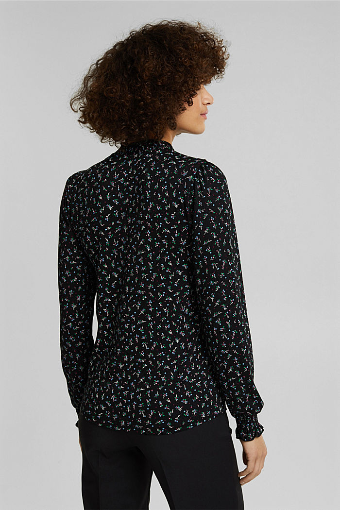 Long sleeve top made of LENZING™ ECOVERO™, BLACK, detail image number 3