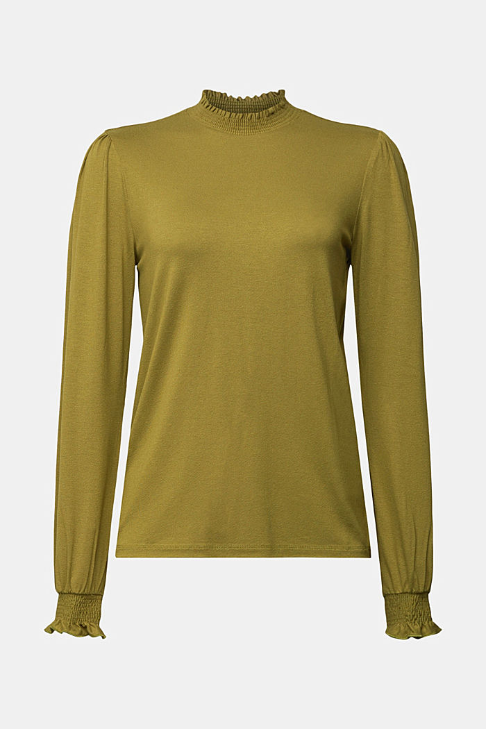 Long sleeve top made of LENZING™ ECOVERO™