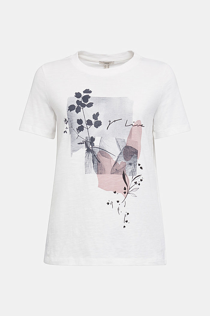 T-shirt made of 100% organic cotton, OFF WHITE, detail image number 7