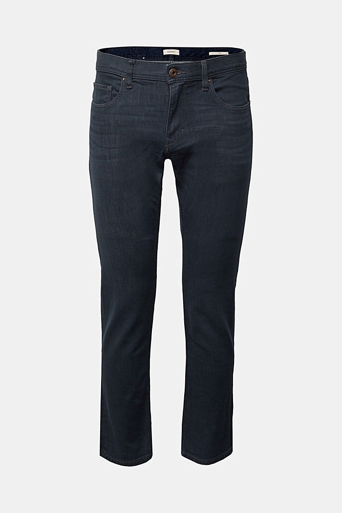 Dynamic denim with super stretch for comfort, BLUE DARK WASHED, overview