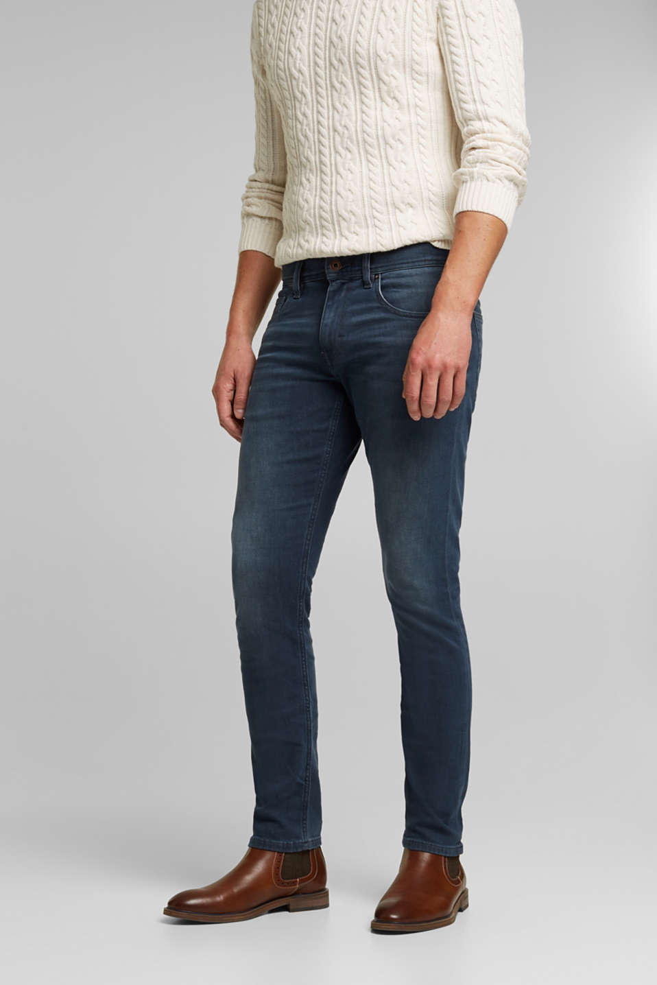 Esprit - Dynamic denim med superstretchkomfort