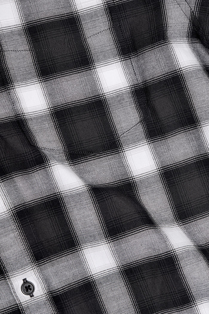 Recycled: Check shirt in blended cotton, BLACK, detail image number 4