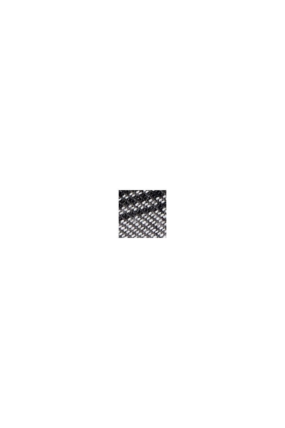 Gerecycled: geruit overhemd van een katoenmix, BLACK, swatch