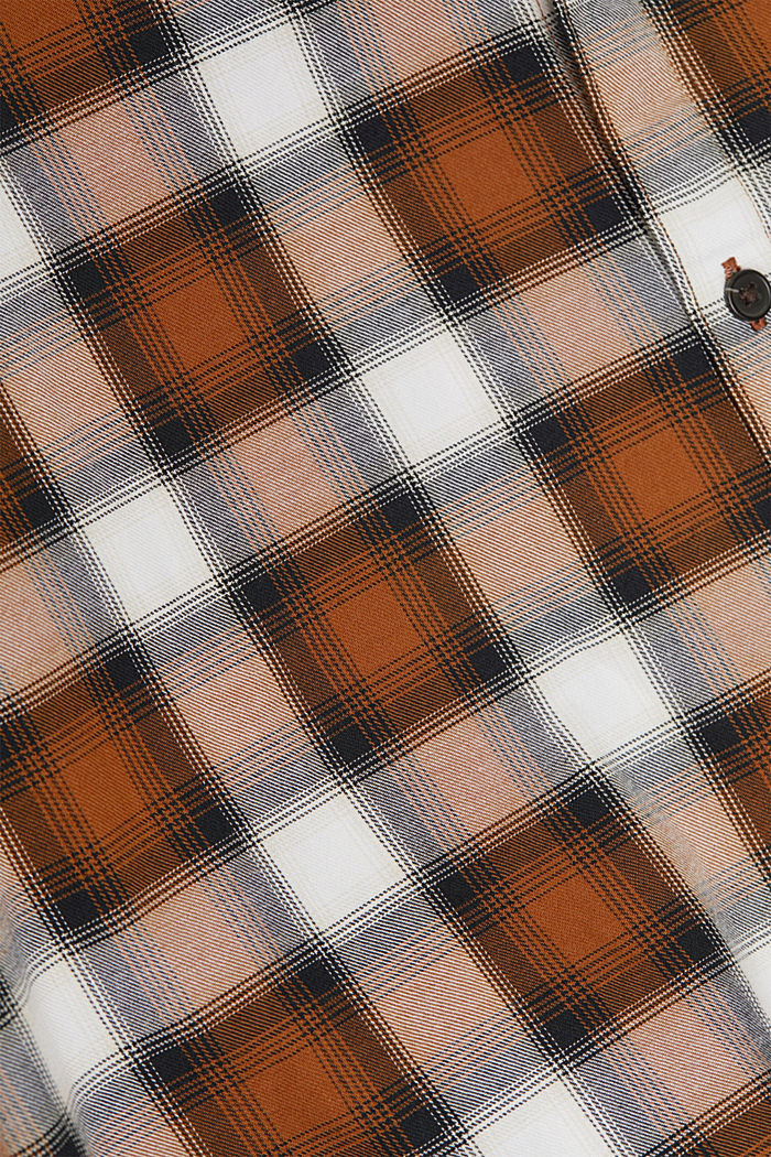 Recycled: Check shirt in blended cotton, CAMEL, detail image number 4