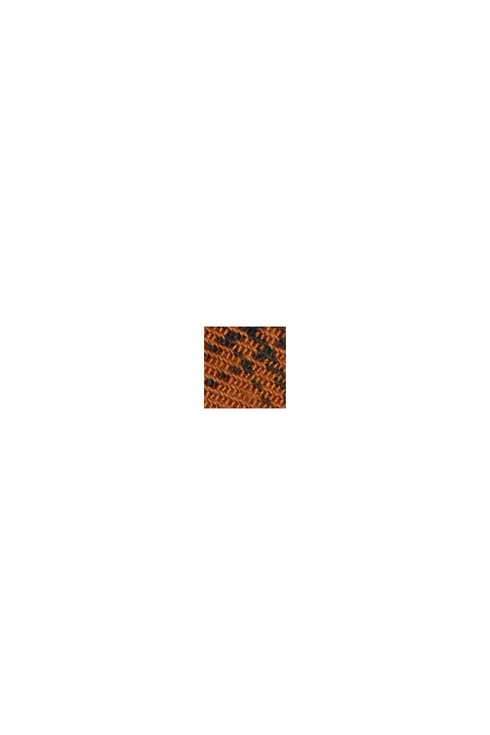 Gerecycled: geruit overhemd van een katoenmix, CAMEL, swatch
