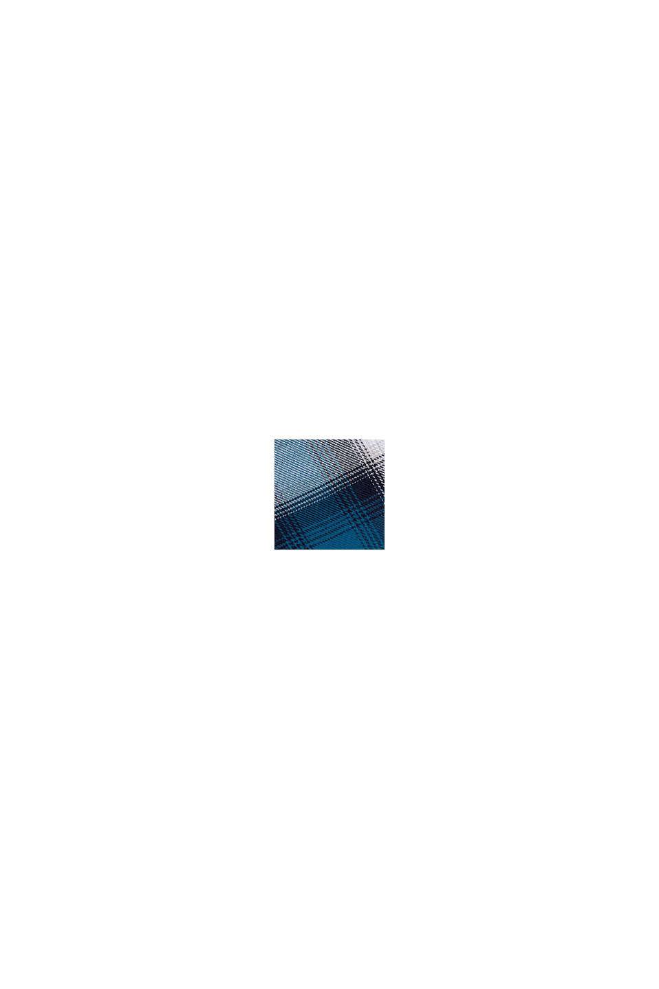 Gerecycled: geruit overhemd van een katoenmix, TEAL BLUE, swatch