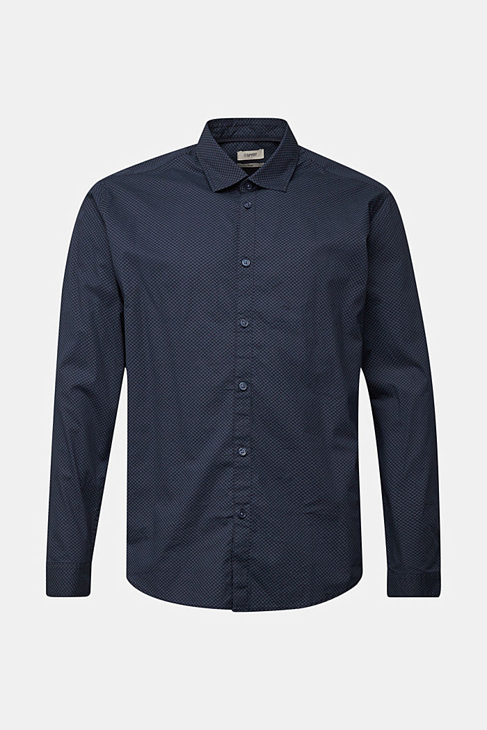Print shirt made of 100% organic, NAVY, overview