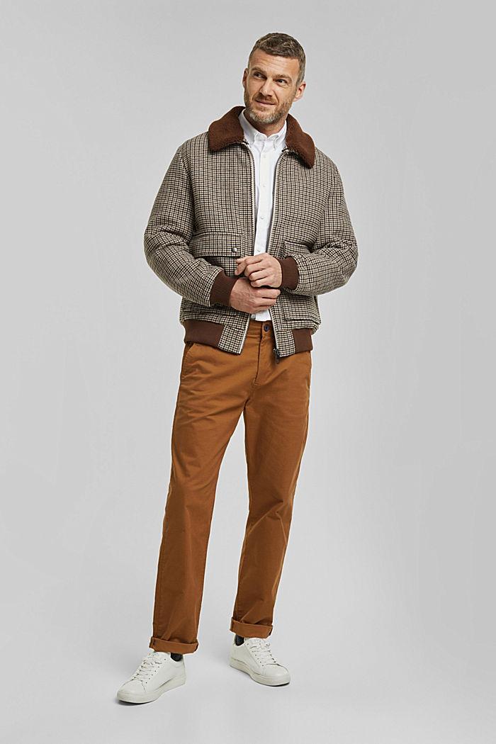 Buttondownoverhemd van katoen-stretch, WHITE, detail image number 1