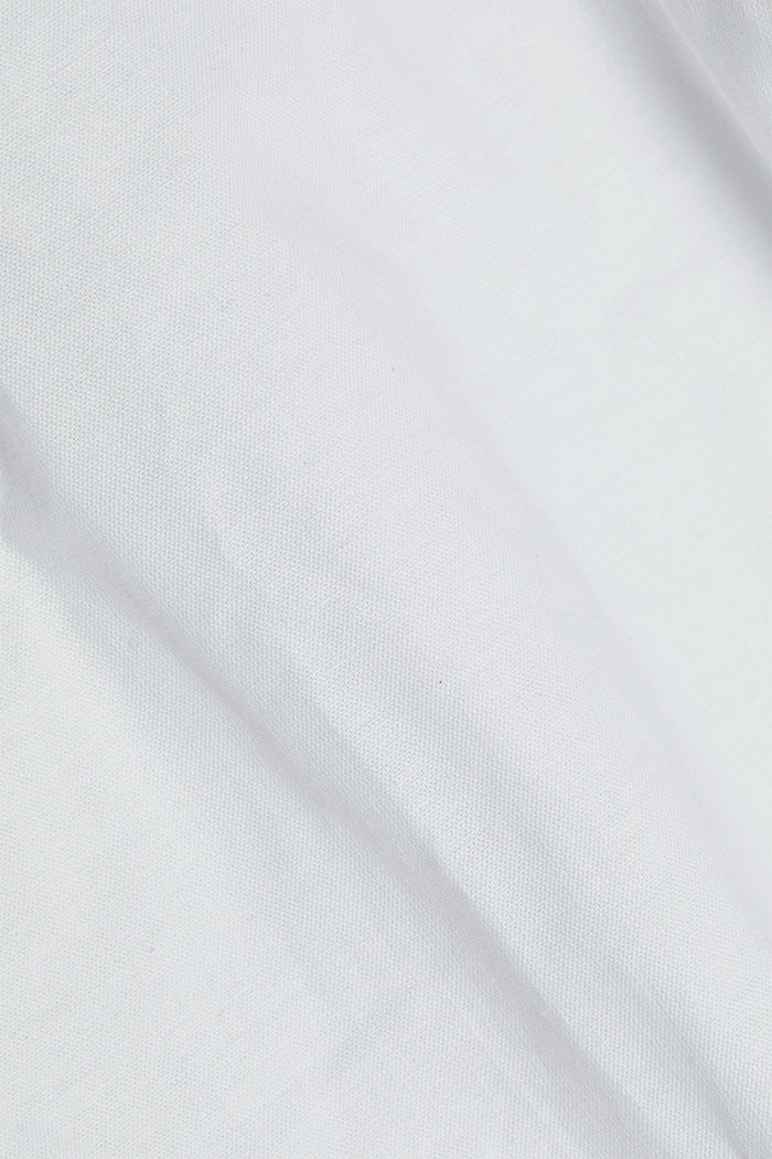 Stretch cotton button-down shirt, WHITE, detail image number 4