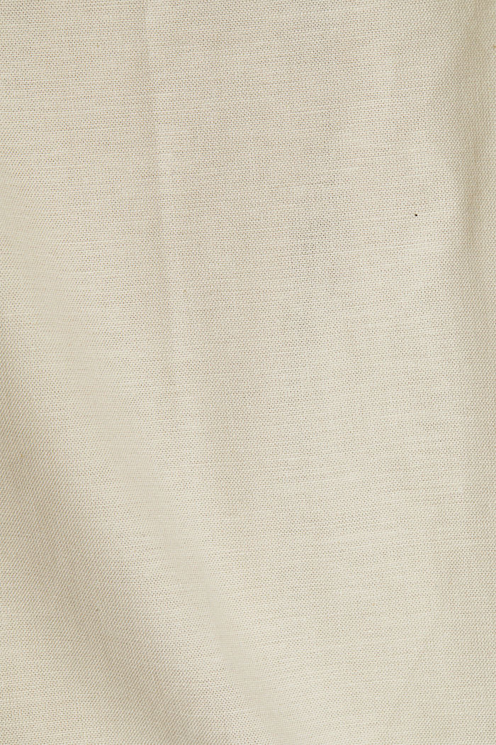 Stretch cotton button-down shirt, SAND, detail image number 4