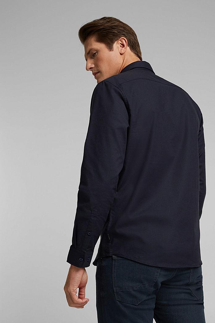Buttondownoverhemd van katoen-stretch, NAVY, detail image number 3
