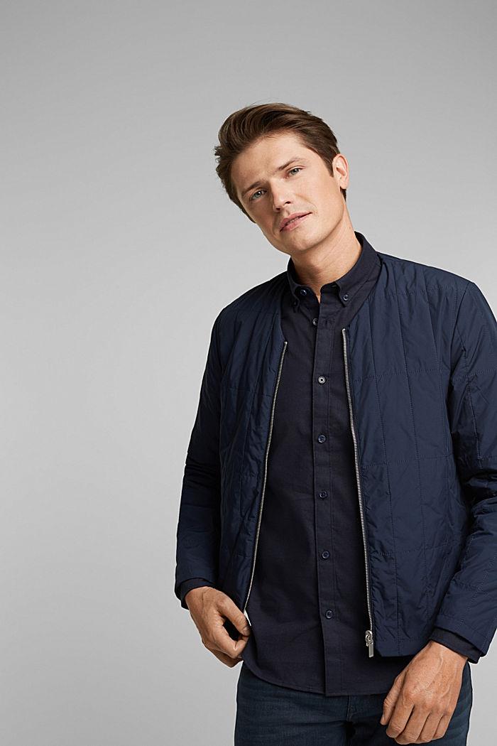Buttondownoverhemd van katoen-stretch, NAVY, detail image number 5