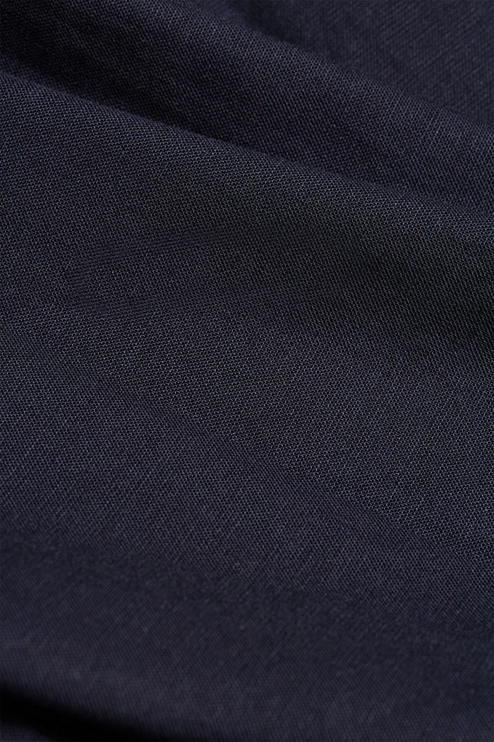 Nappikauluspaita puuvillastretchiä, NAVY, detail image number 4