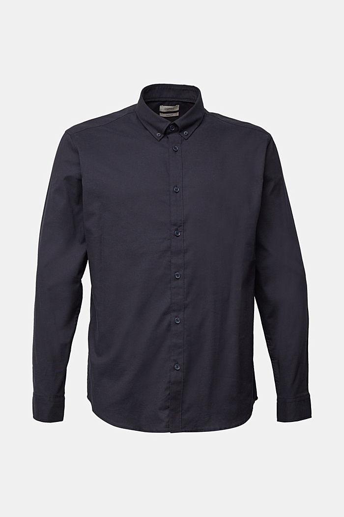 Buttondownoverhemd van katoen-stretch, NAVY, detail image number 6