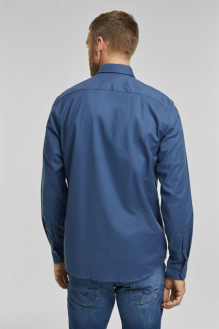 Stretch cotton button-down shirt, BLUE, detail image number 3