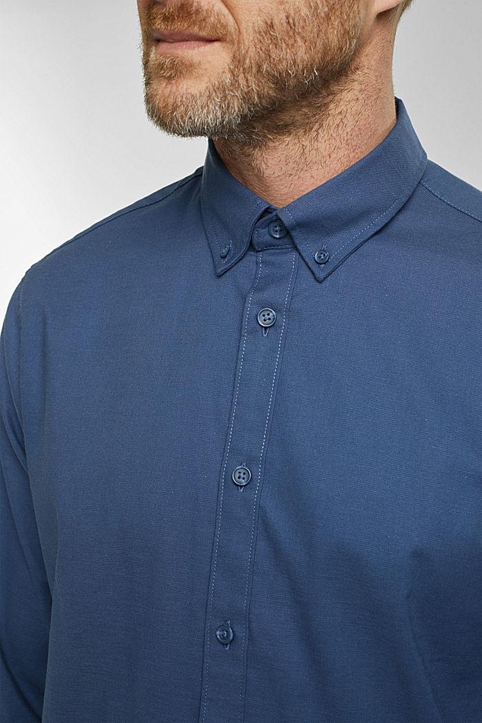 Stretch cotton button-down shirt, BLUE, detail image number 2