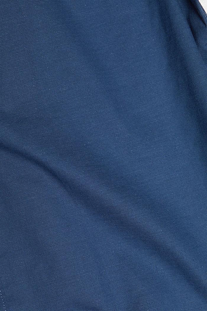 Stretch cotton button-down shirt, BLUE, detail image number 4