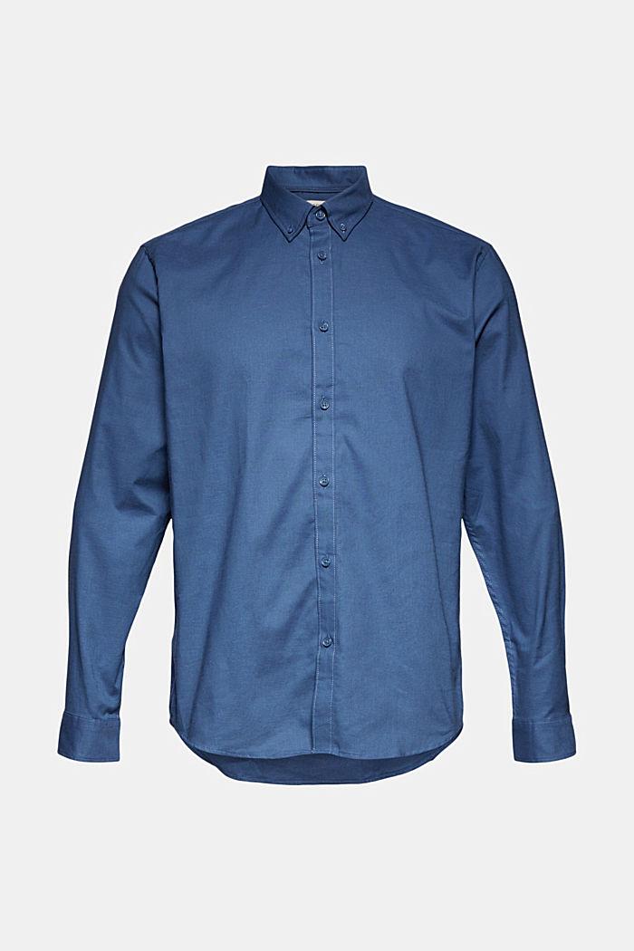 Stretch cotton button-down shirt, BLUE, detail image number 5