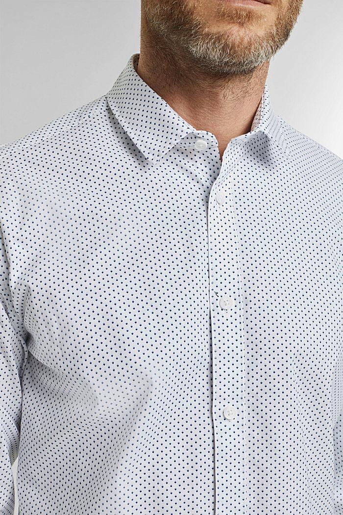 Overhemd met print, van biologisch katoen, WHITE, detail image number 2