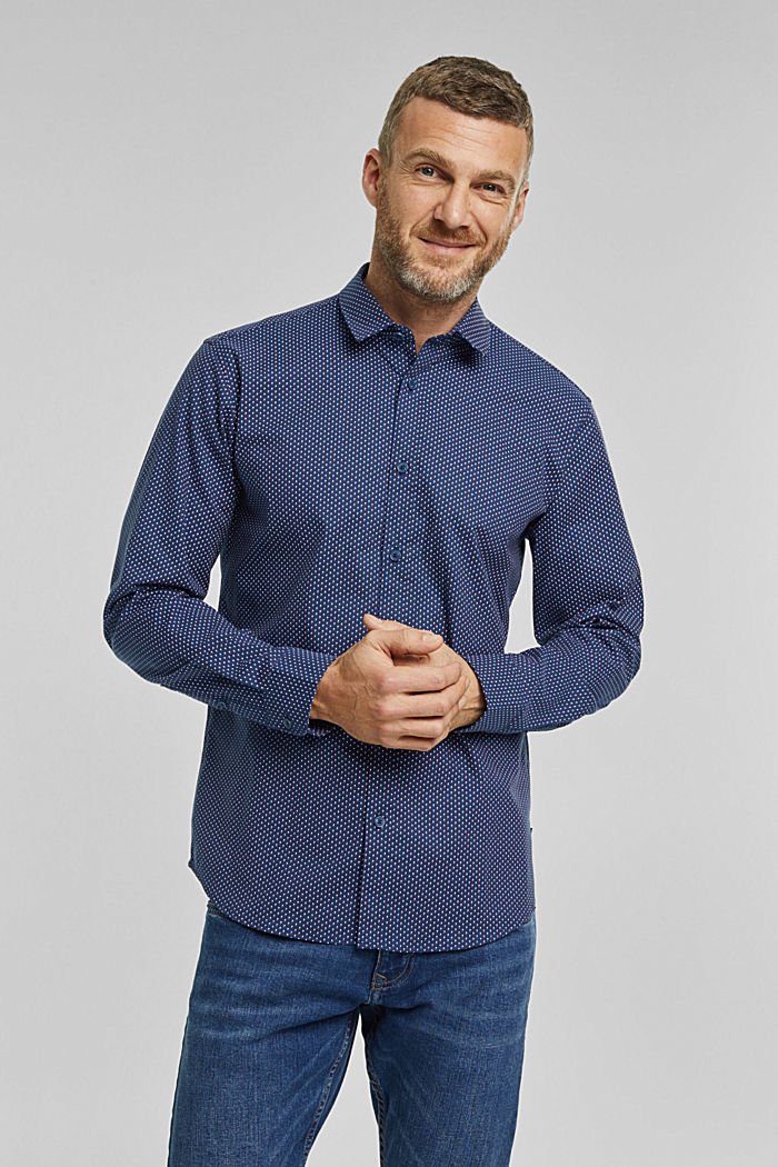 Print-Hemd aus Organic Cotton