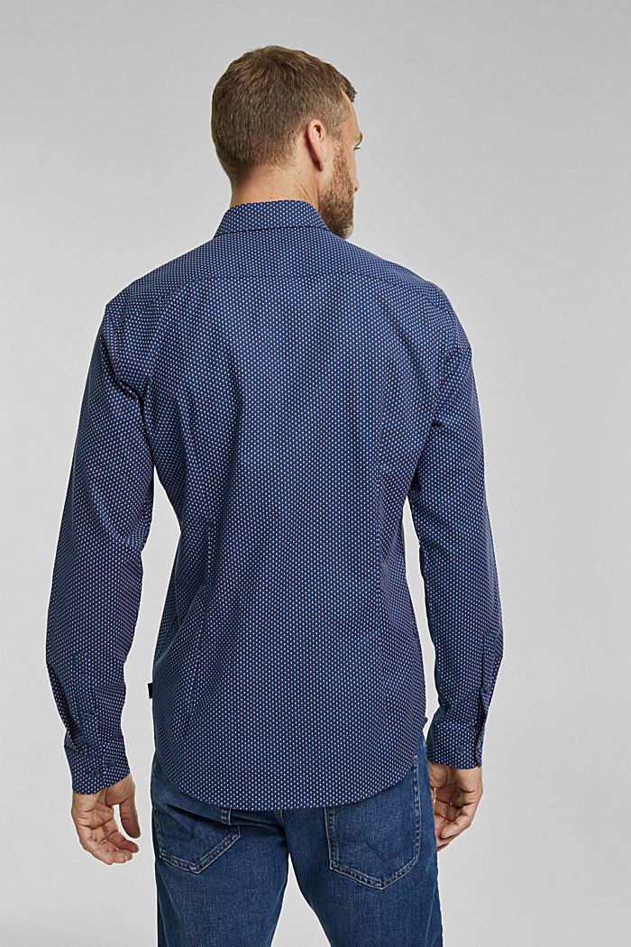Print-Hemd aus Organic Cotton, BRIGHT BLUE, detail image number 3