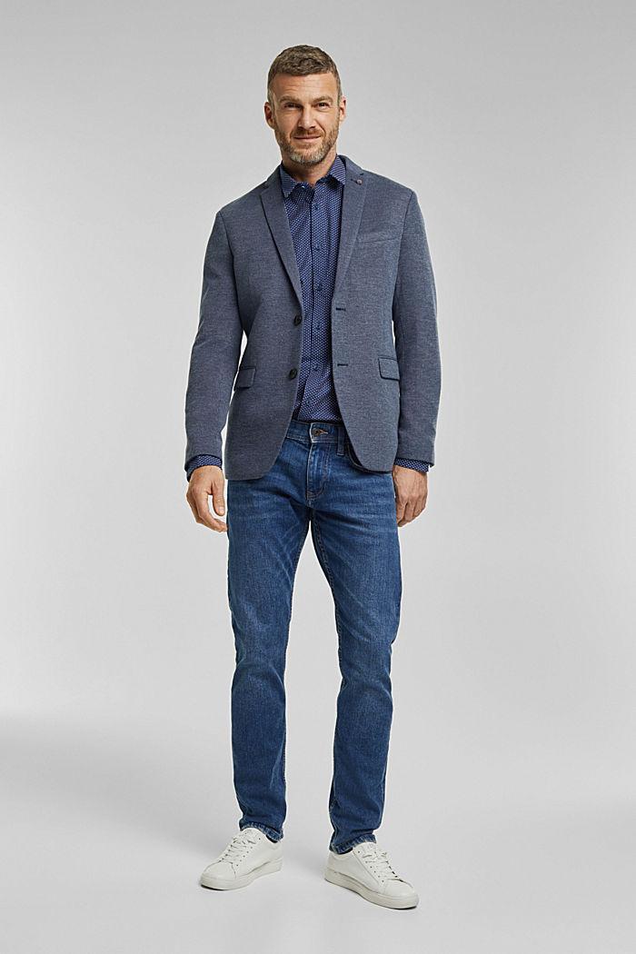 Print-Hemd aus Organic Cotton, BRIGHT BLUE, detail image number 1