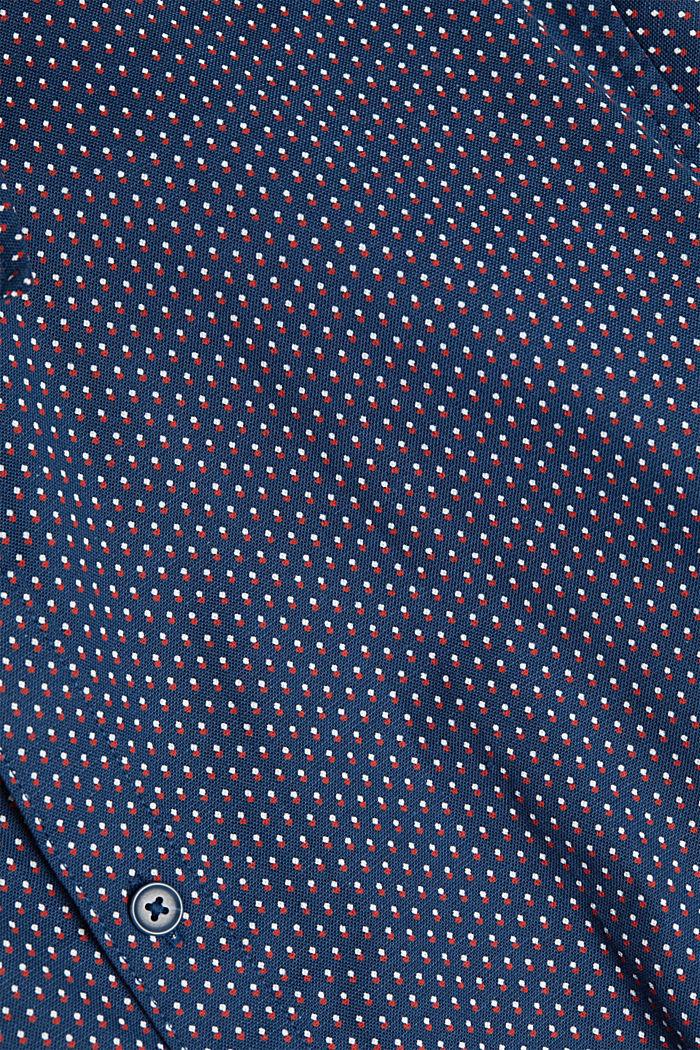 Print-Hemd aus Organic Cotton, BRIGHT BLUE, detail image number 4